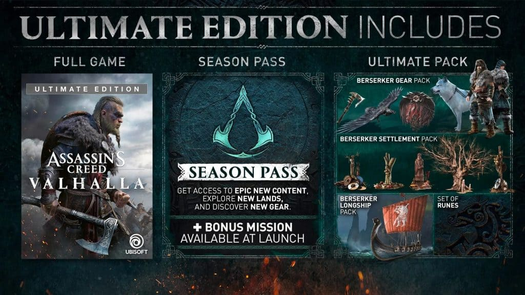 Assassin's Creed Valhalla Game - Ultimate Edition