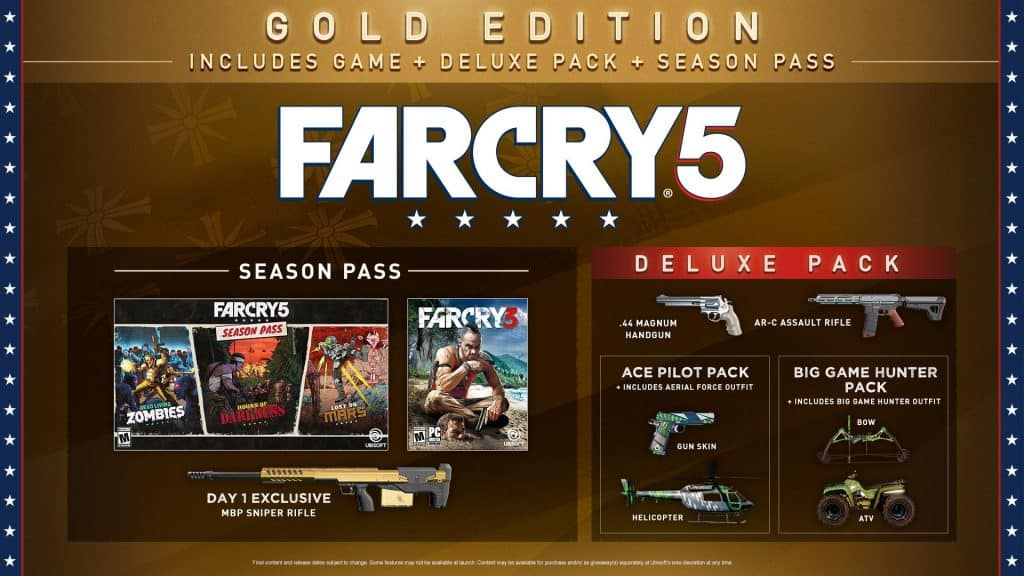 Far Cry 5 Game Gold Edition