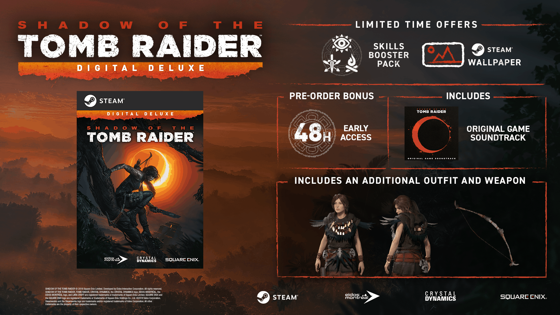 Shadow Of The Tomb Raider Game - Digital Deluxe Edition