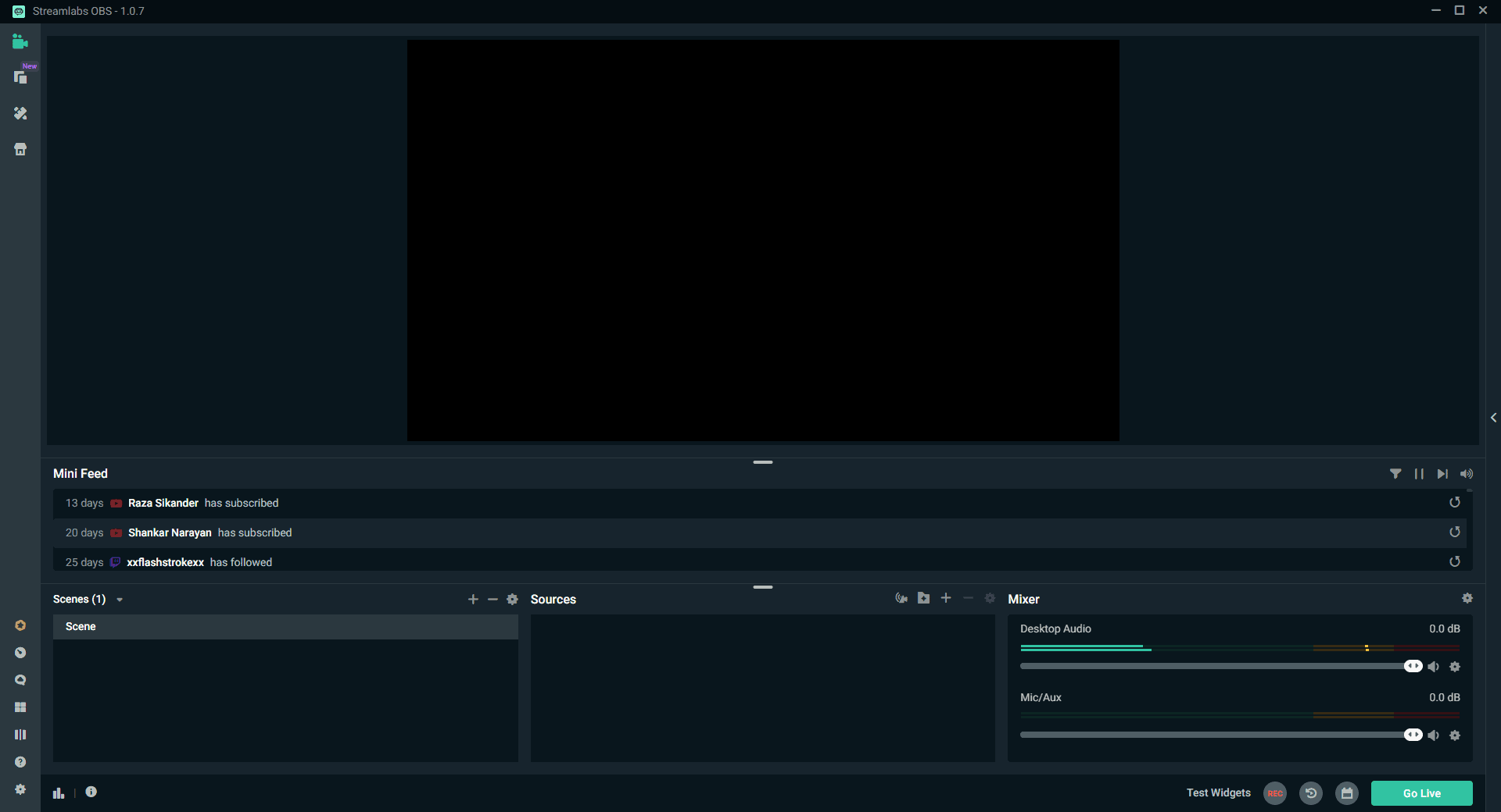 Streamlabs OBS Ready Screen