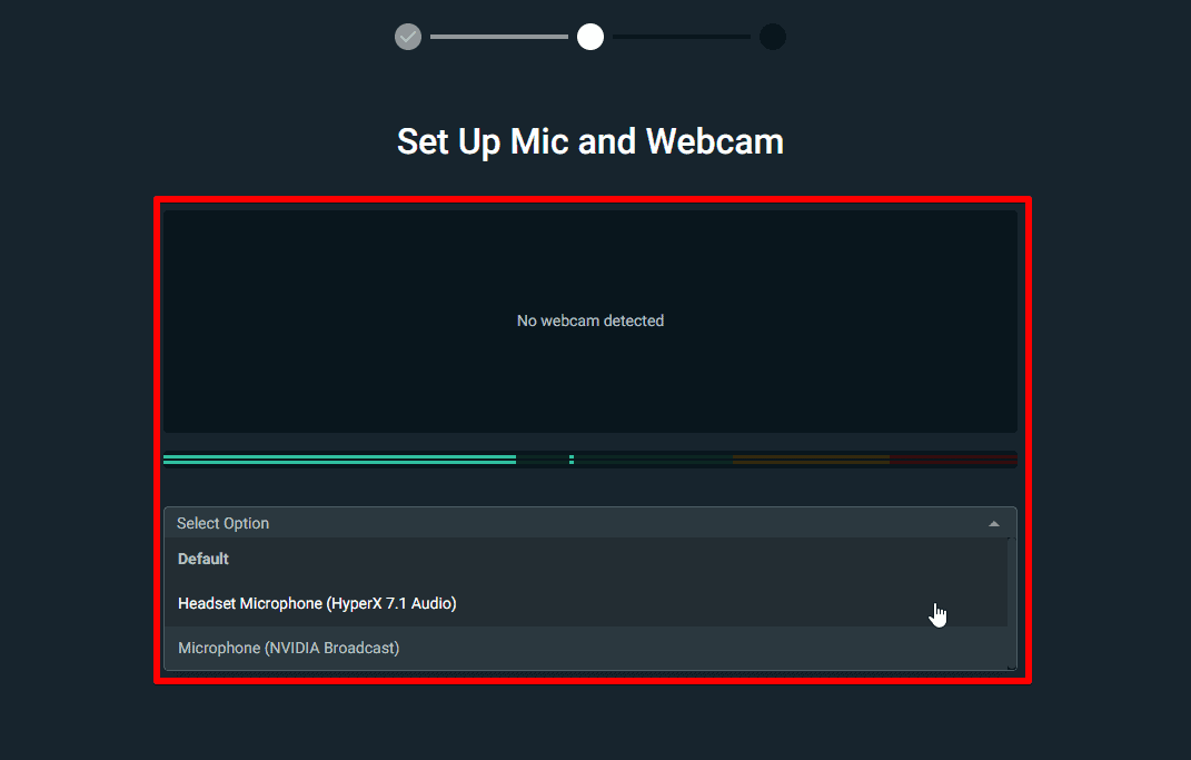 Streamlabs OBS Set Up Mic And Webcam
